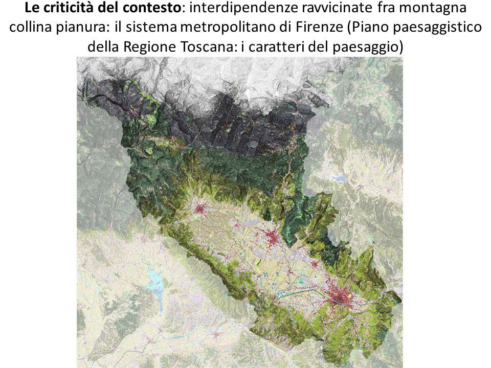 Le criticità del contesto: interdipendenze ravvicinate fra montagna collina pianura: il sistema metropolitano di Firenze (Piano paesaggistico della Regione Toscana: i caratteri del paesaggio)