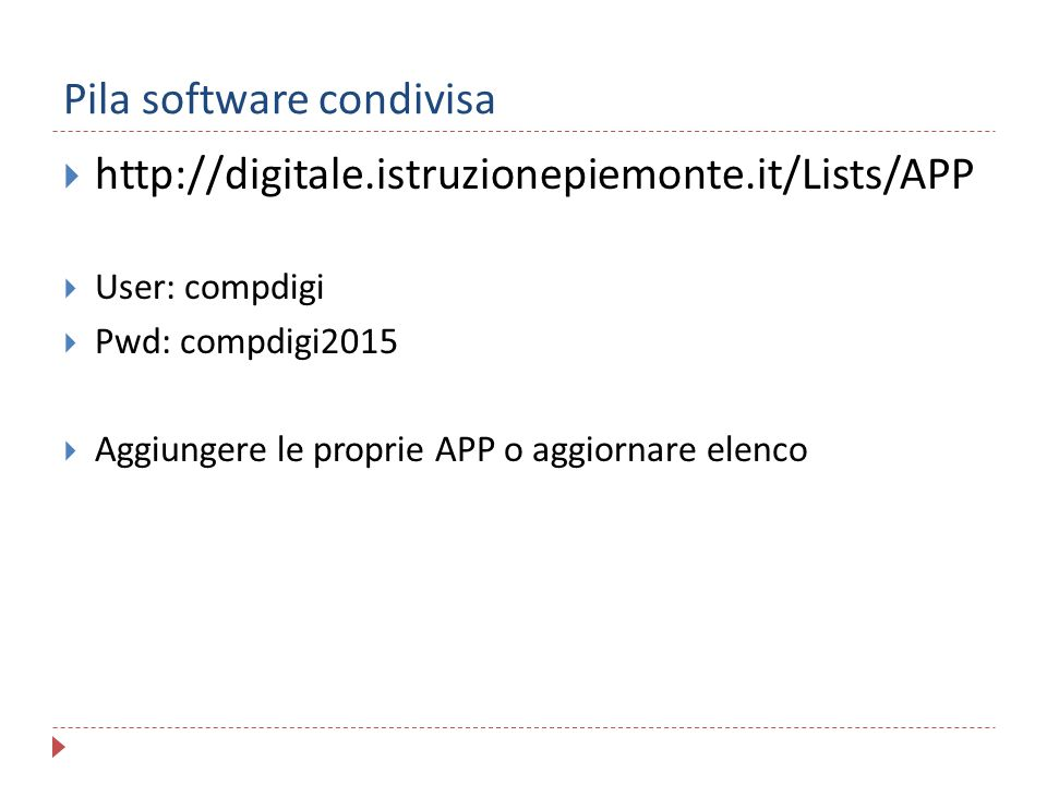 Pila software condivisa