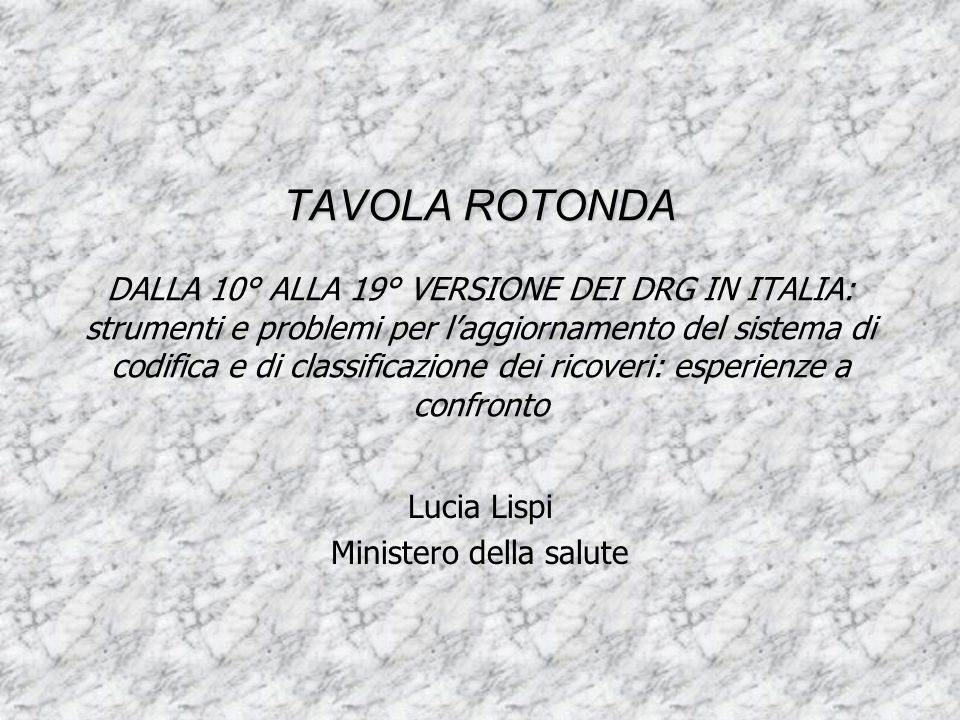 Lucia Lispi Ministero della salute