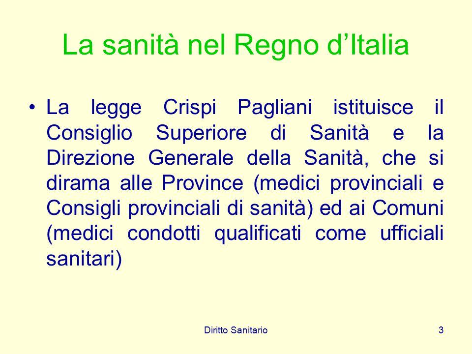 La sanità nel Regno d'Italia