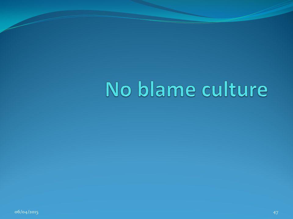 No blame culture 11/04/2017