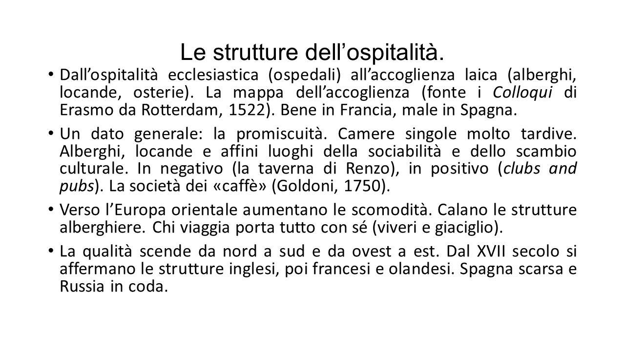Le strutture dell'ospitalità.