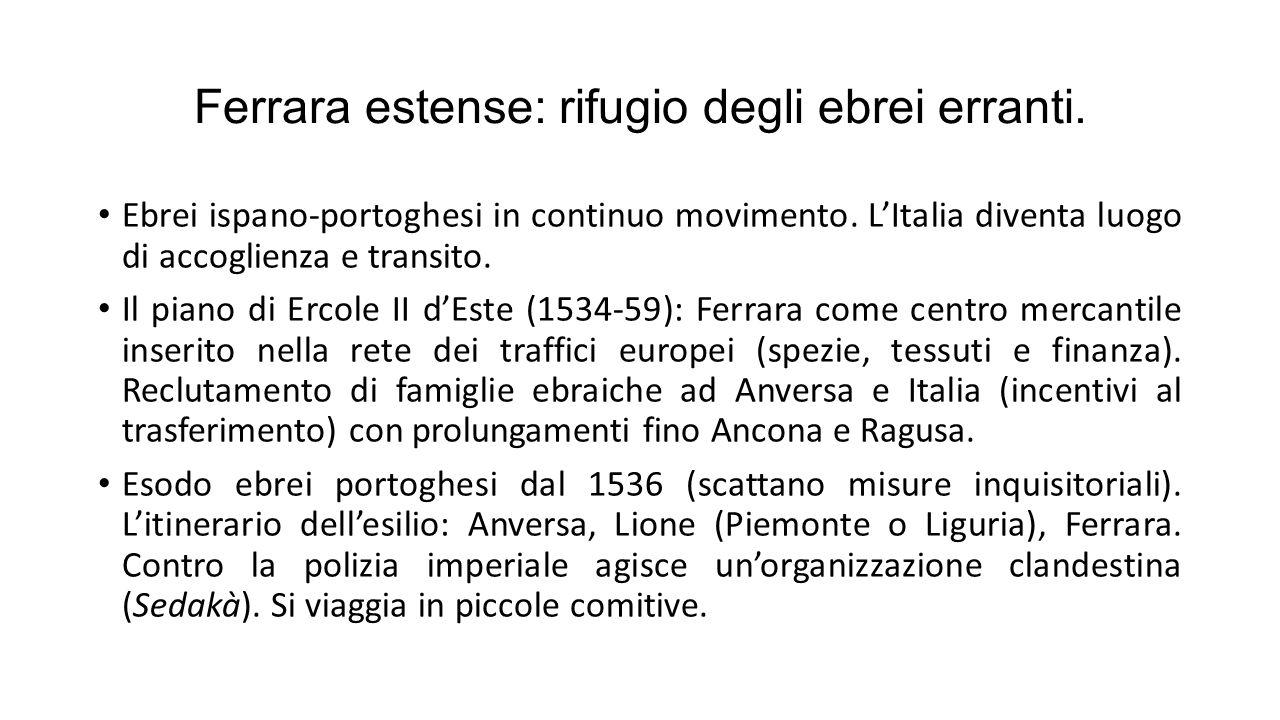 Ferrara estense: rifugio degli ebrei erranti.