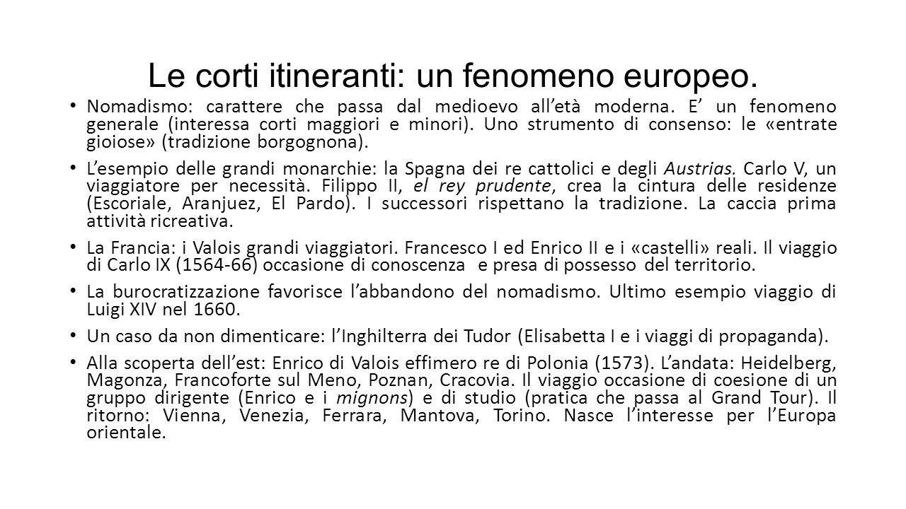 Le corti itineranti: un fenomeno europeo.