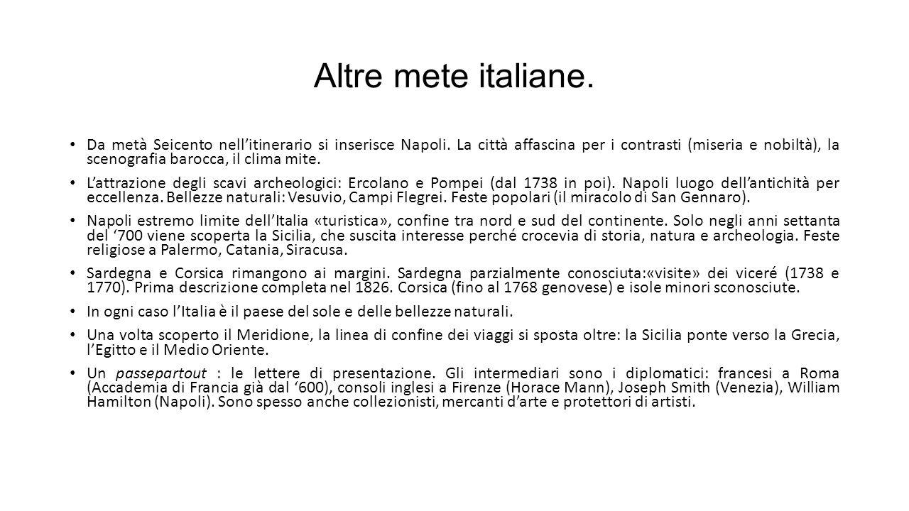 Altre mete italiane.