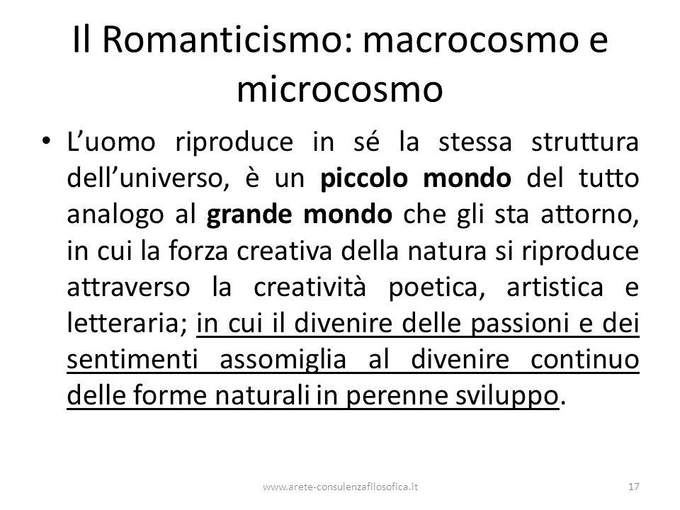 Il Romanticismo: macrocosmo e microcosmo