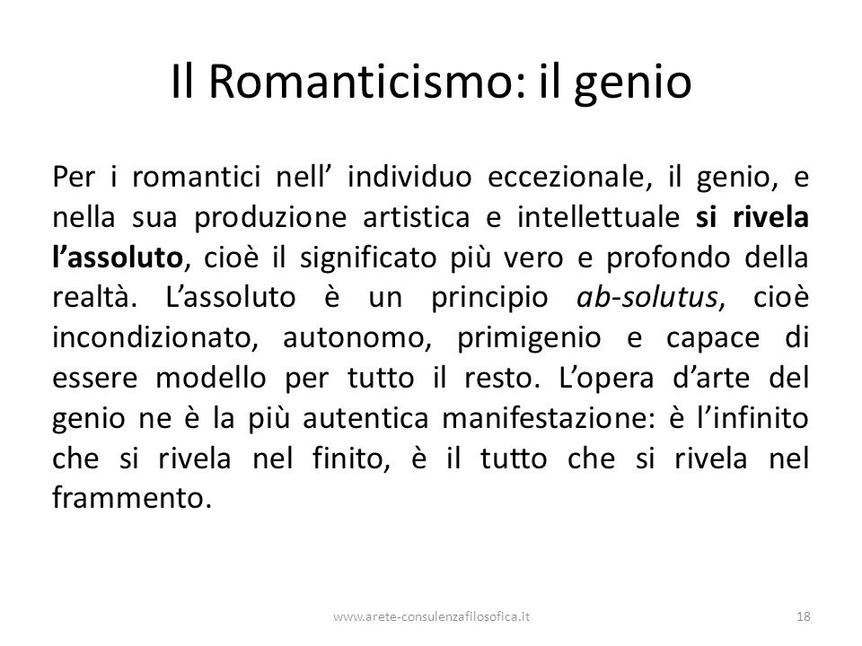 Il Romanticismo: il genio