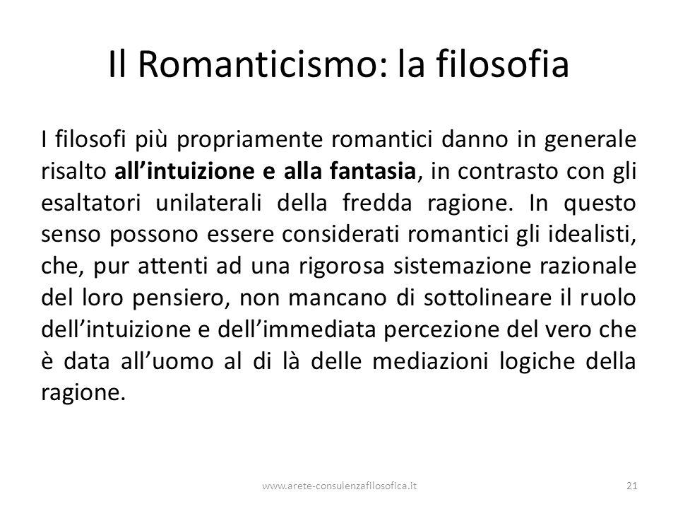 Il Romanticismo: la filosofia