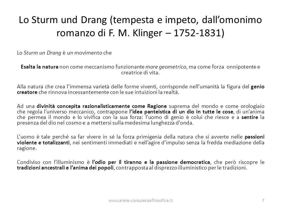 Lo Sturm und Drang (tempesta e impeto, dall'omonimo romanzo di F. M