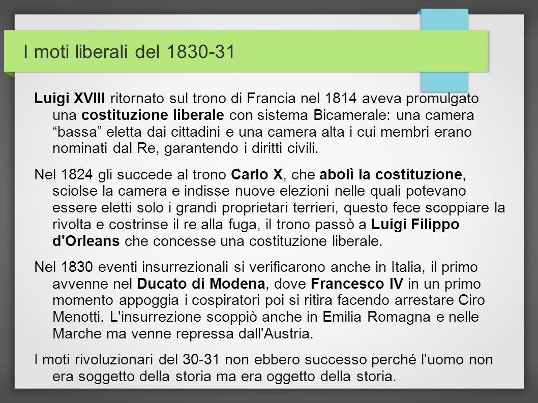 I moti liberali del 1830-31