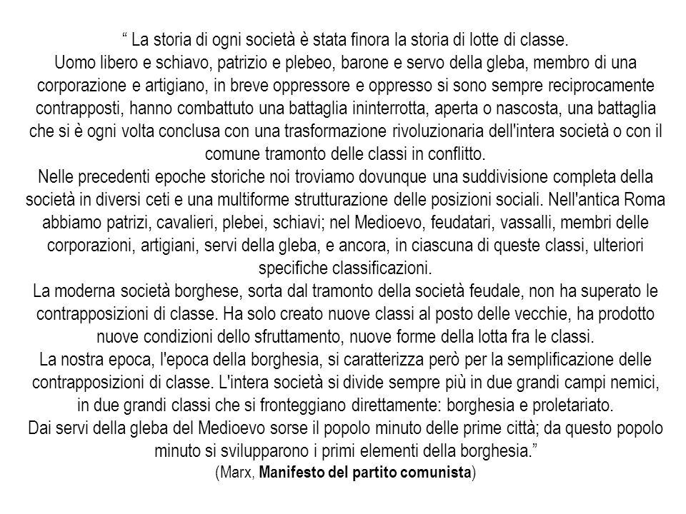(Marx, Manifesto del partito comunista)