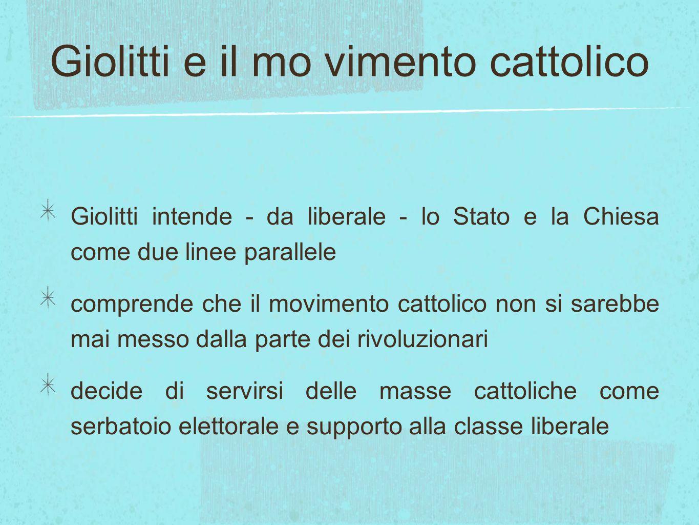 Giolitti e il mo vimento cattolico