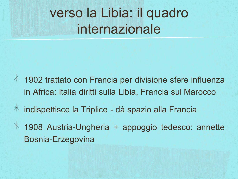 verso la Libia: il quadro internazionale