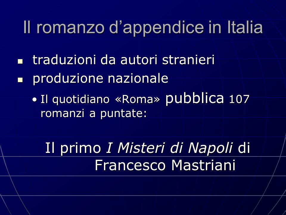 Il romanzo d'appendice in Italia