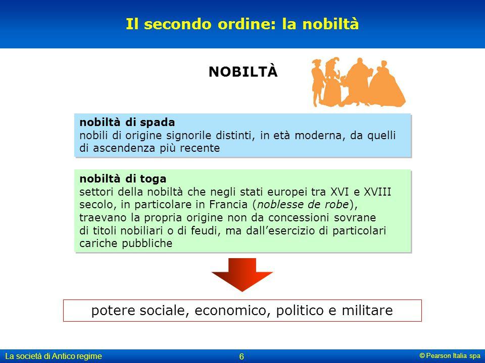 Il secondo ordine: la nobiltà
