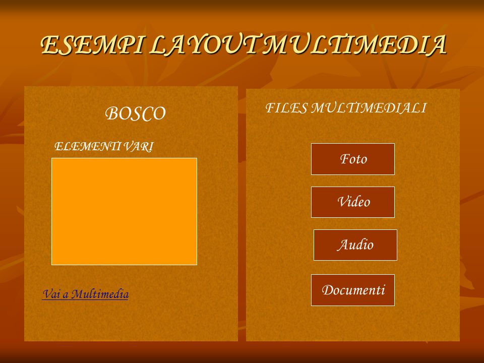 ESEMPI LAYOUT MULTIMEDIA