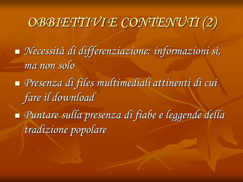 OBBIETTIVI E CONTENUTI (2)