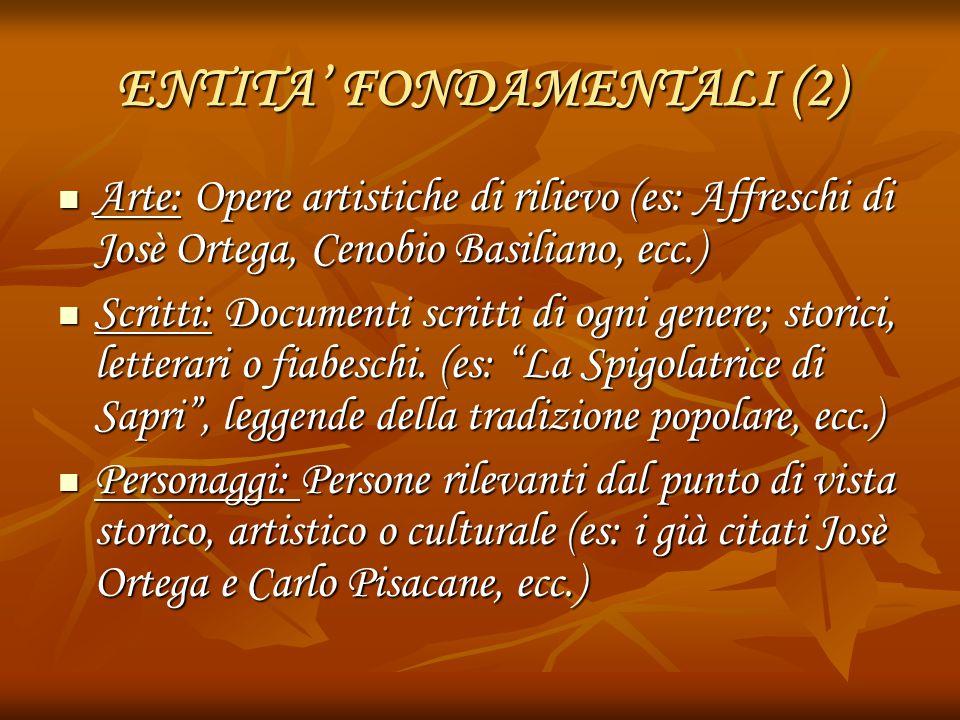 ENTITA' FONDAMENTALI (2)