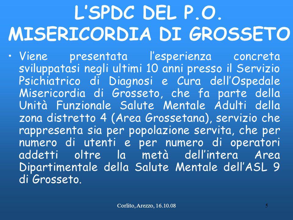 L'SPDC DEL P.O. MISERICORDIA DI GROSSETO