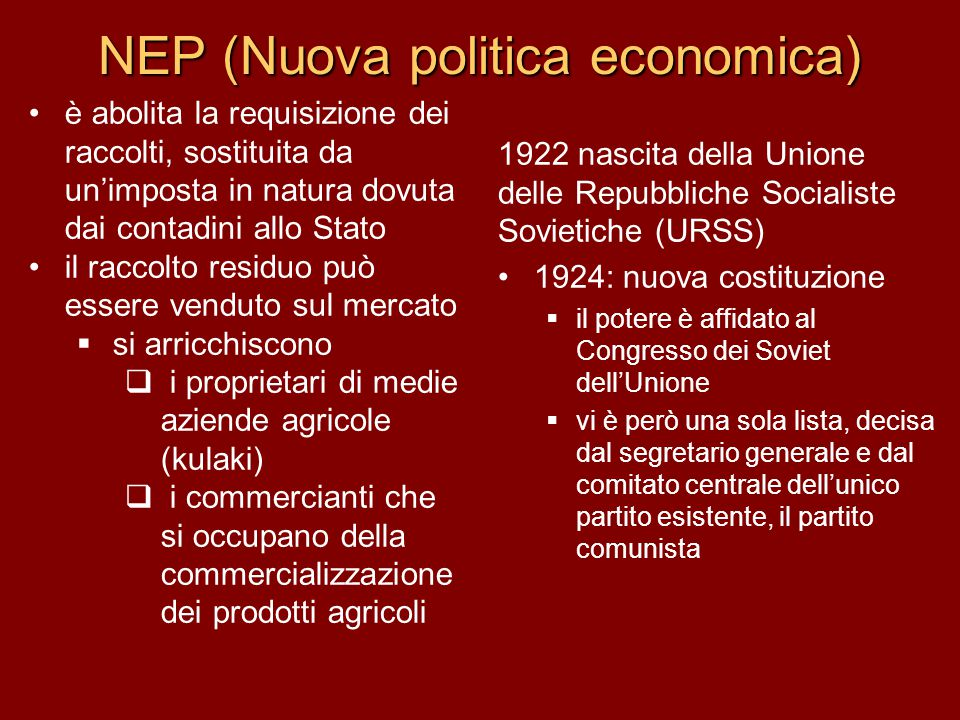 NEP (Nuova politica economica)