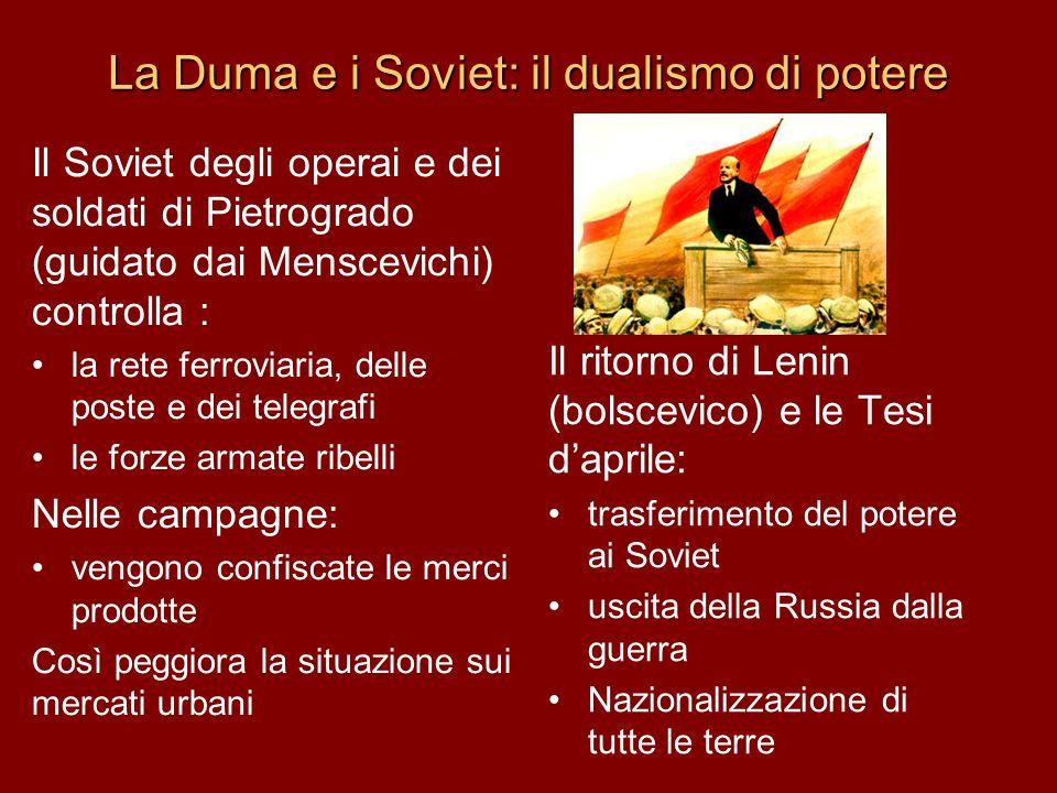 La Duma e i Soviet: il dualismo di potere