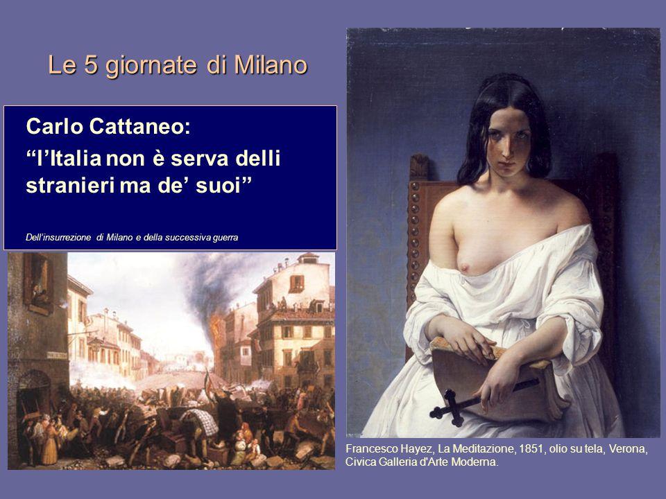 Le 5 giornate di Milano Carlo Cattaneo: