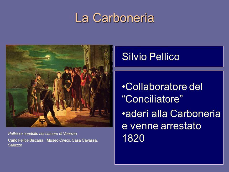 La Carboneria Silvio Pellico Collaboratore del Conciliatore