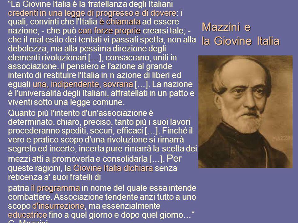 Mazzini e la Giovine Italia