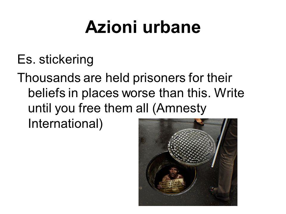Azioni urbane Es. stickering
