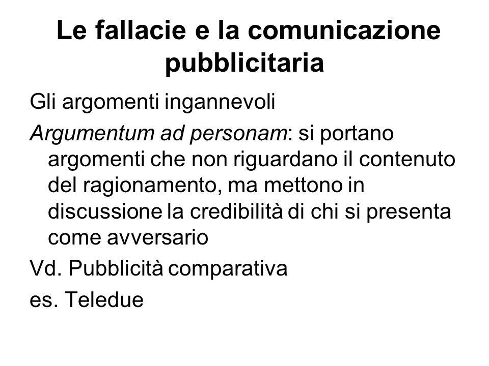Le fallacie e la comunicazione pubblicitaria