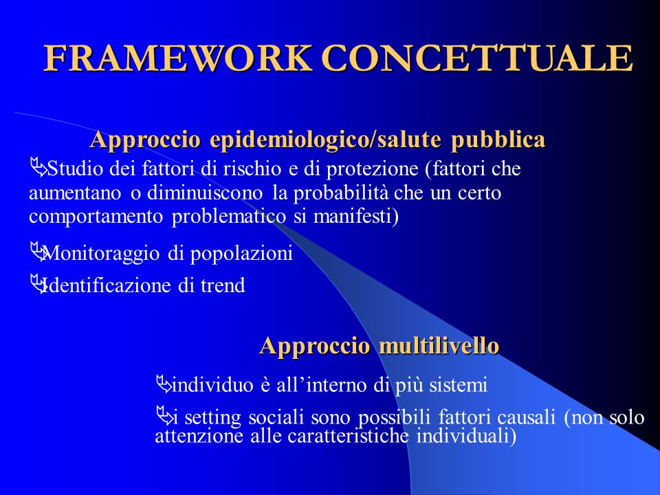 FRAMEWORK CONCETTUALE