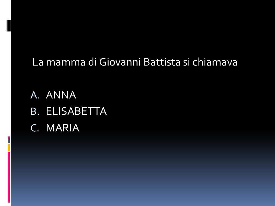 La mamma di Giovanni Battista si chiamava