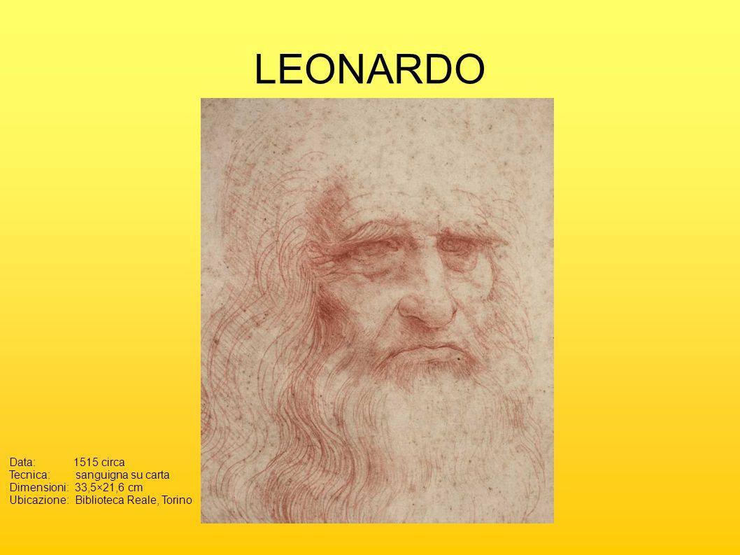 LEONARDO Data: 1515 circa Tecnica: sanguigna su carta