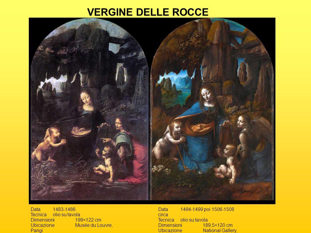 VERGINE DELLE ROCCE Data 1483-1486 Tecnica olio su tavola