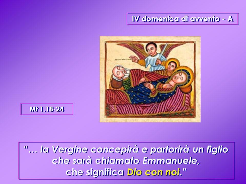 IV domenica di avvento - A