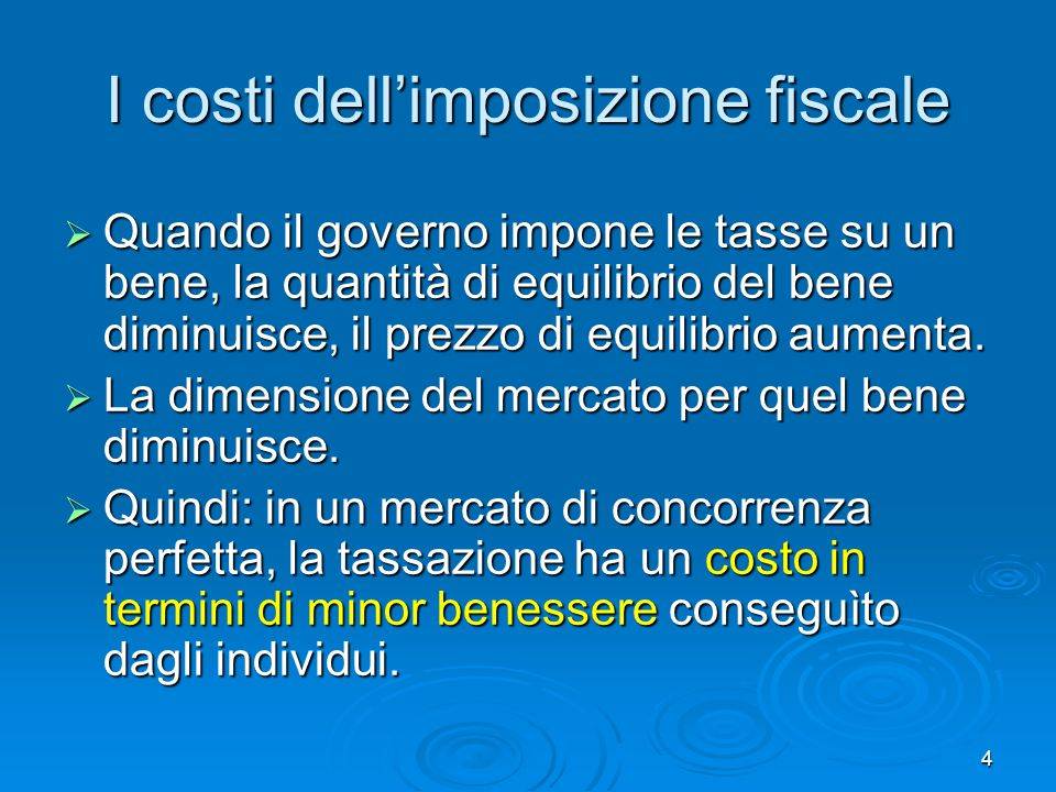 I costi dell'imposizione fiscale