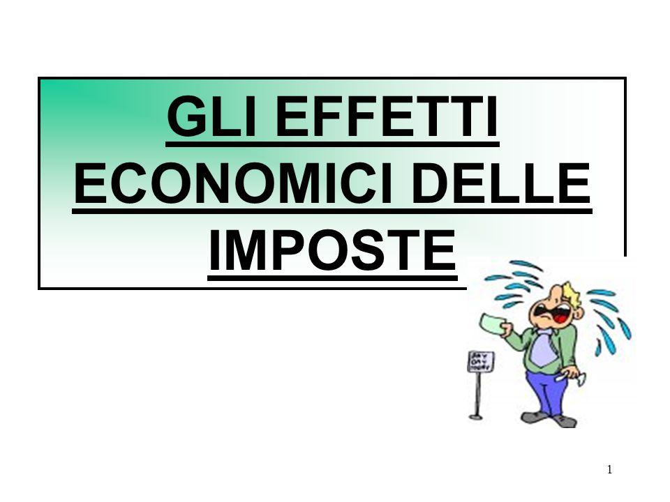 GLI EFFETTI ECONOMICI DELLE IMPOSTE