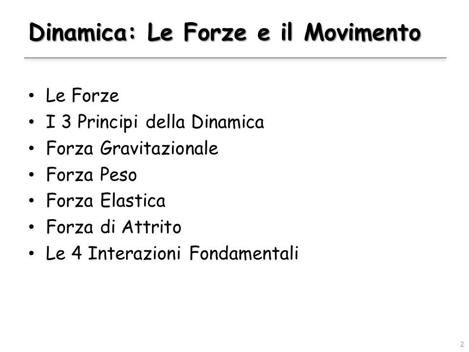 Dinamica: Le Forze e il Movimento