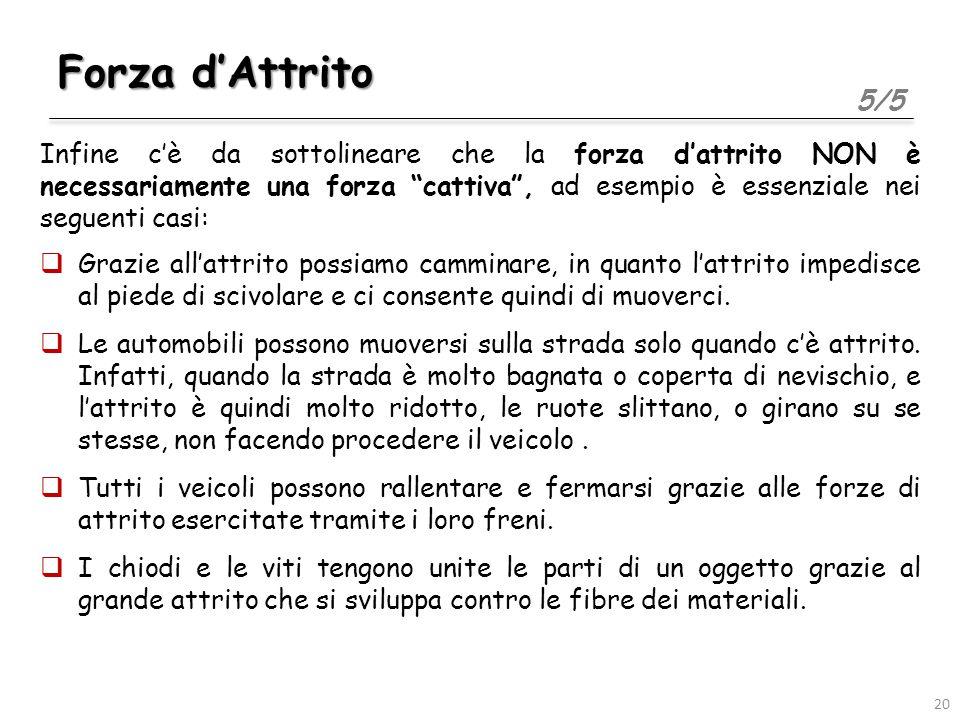 Forza d'Attrito 5/5.