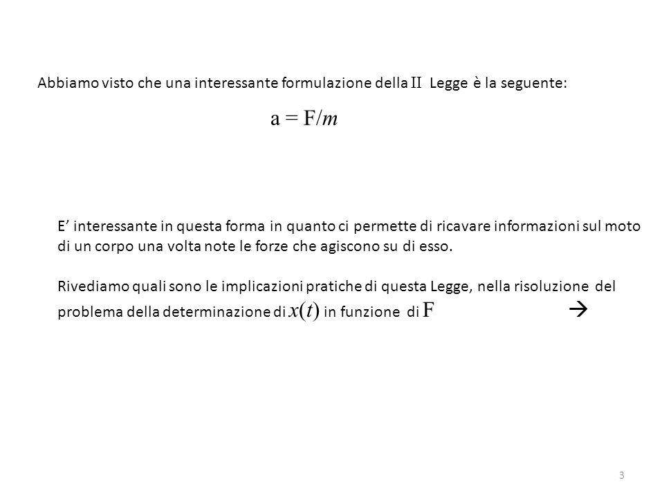 Abbiamo visto che una interessante formulazione della II Legge è la seguente: