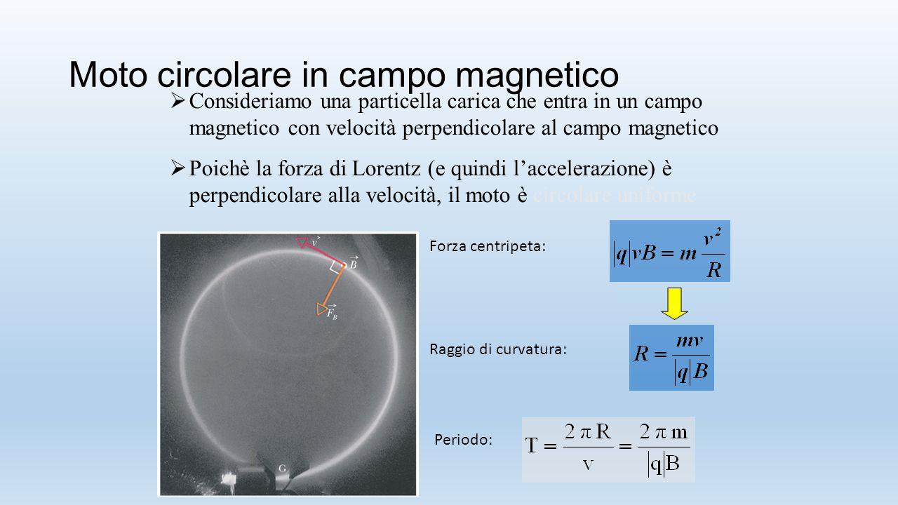 Moto circolare in campo magnetico