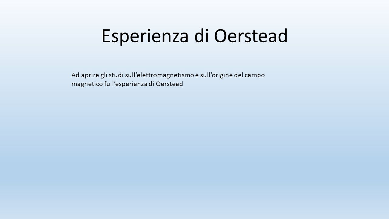 Esperienza di Oerstead