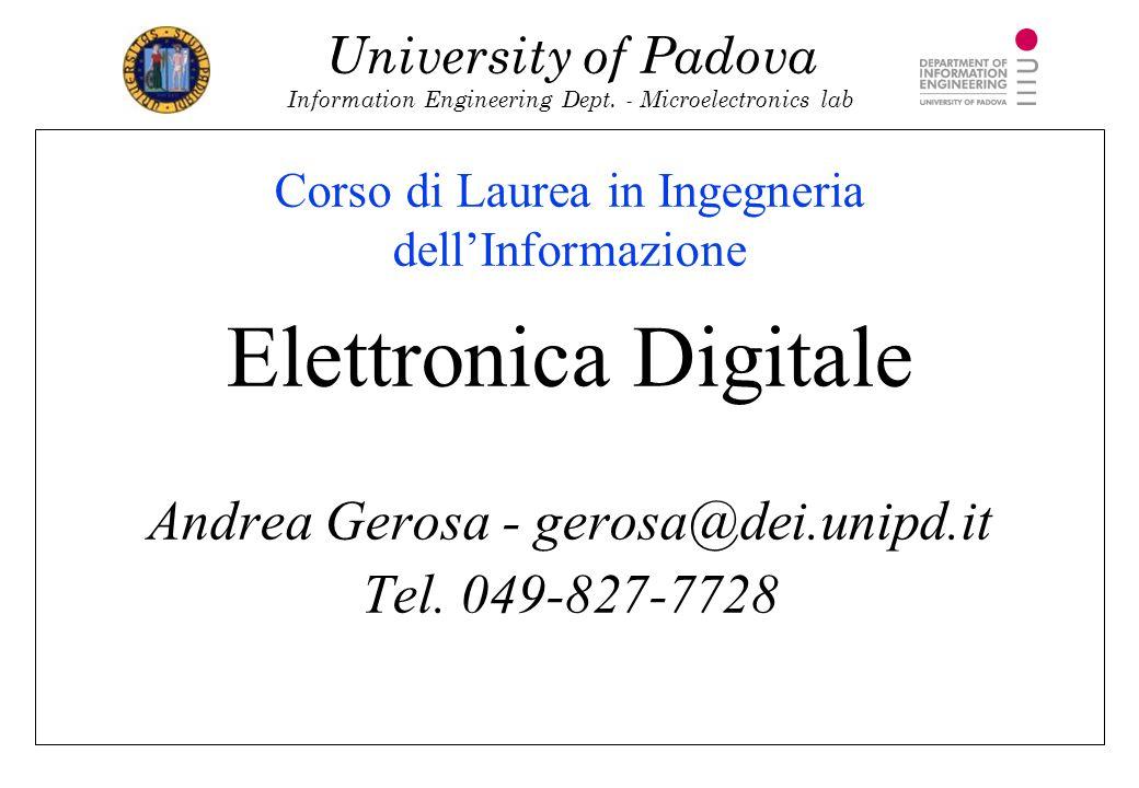 Corso di Laurea in Ingegneria dell'Informazione