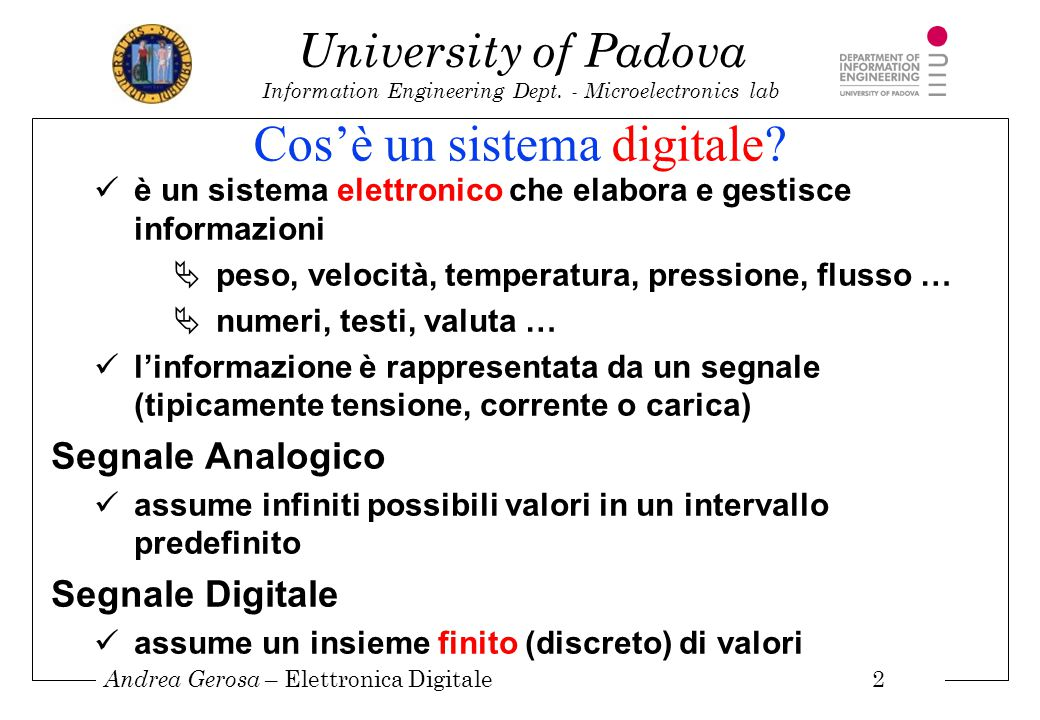Cos'è un sistema digitale