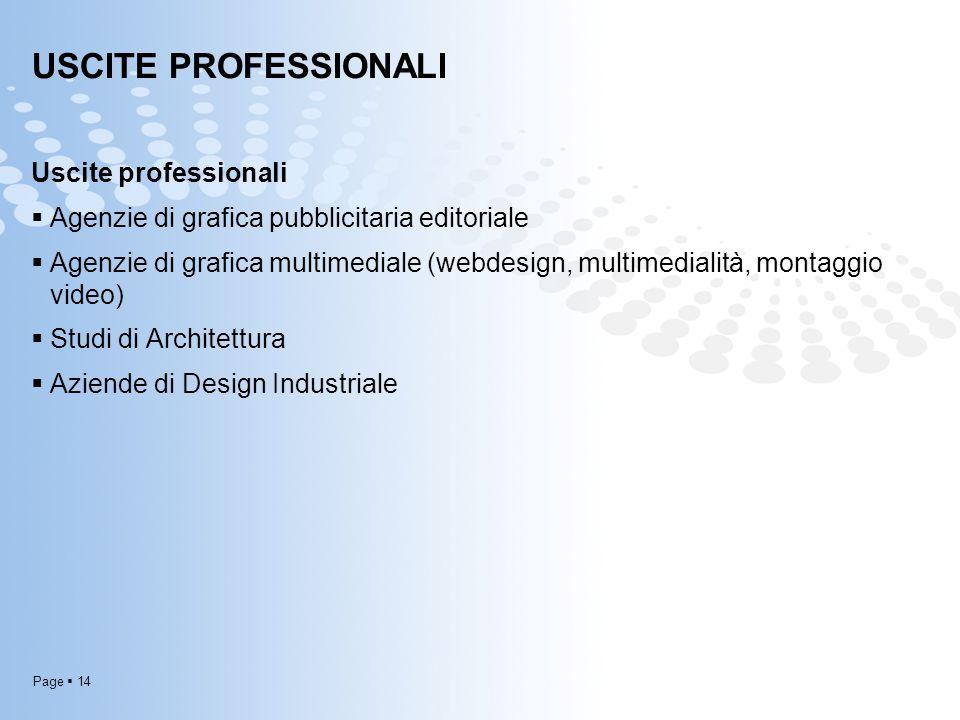 USCITE PROFESSIONALI Uscite professionali