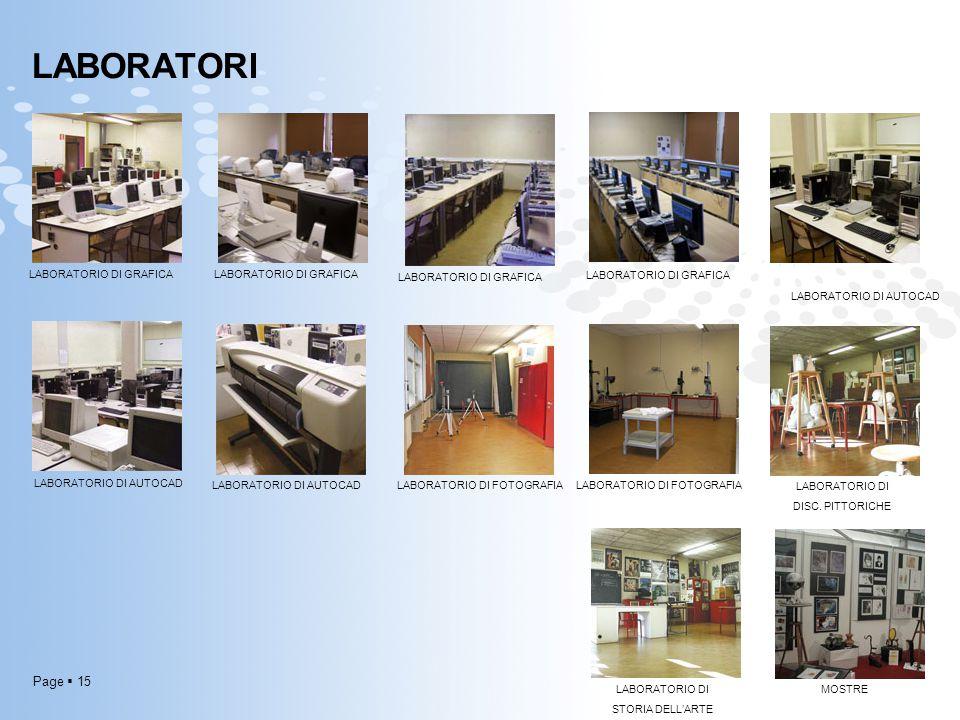 LABORATORI Laboratori LABORATORIO DI GRAFICA LABORATORIO DI GRAFICA