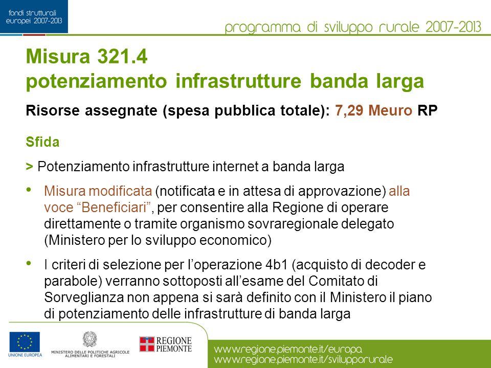 Misura 321.4 potenziamento infrastrutture banda larga