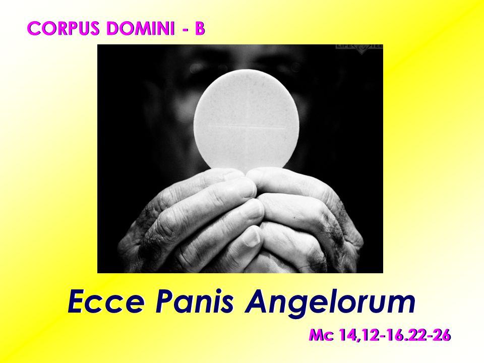 CORPUS DOMINI - B Ecce Panis Angelorum Mc 14,12-16.22-26