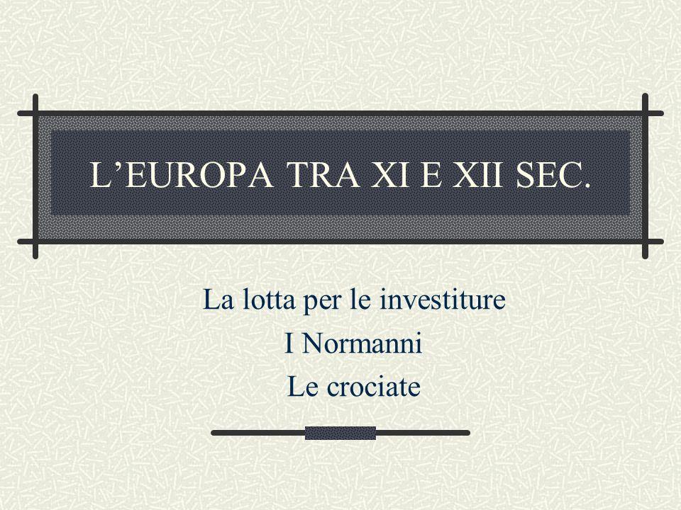 L'EUROPA TRA XI E XII SEC.