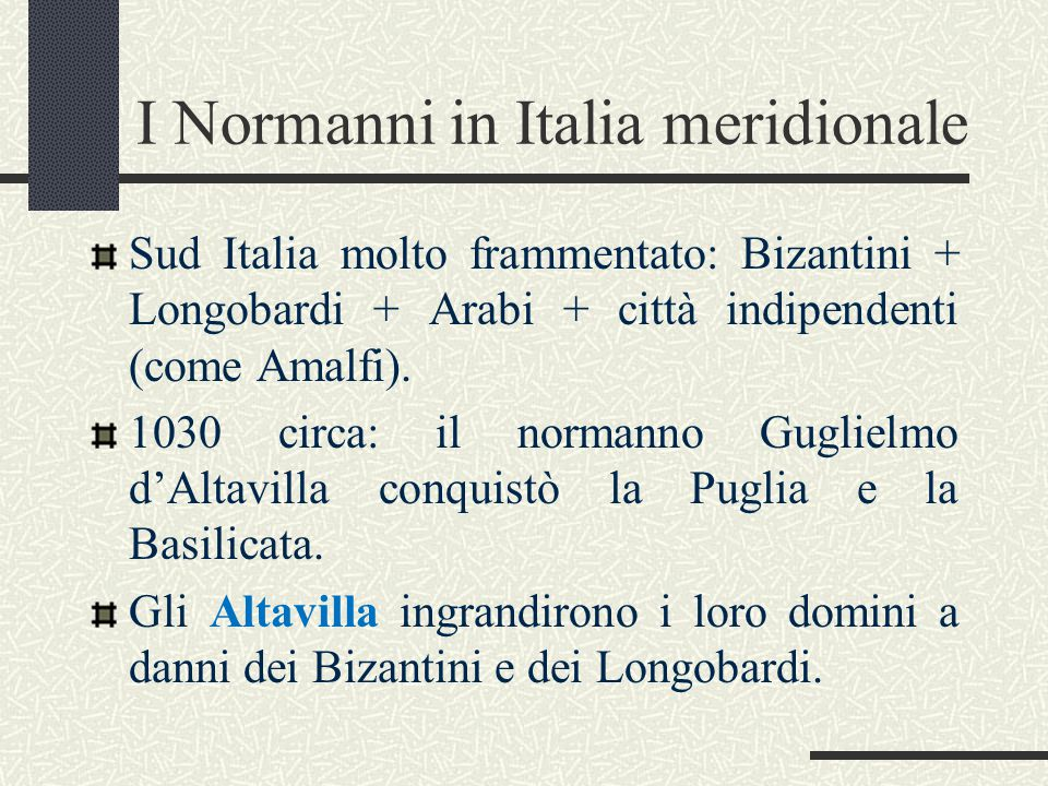 I Normanni in Italia meridionale